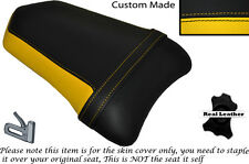 DESIGN 2 BLACK & YELLOW CUSTOM FITS DUCATI 999 749 REAR PILLION SEAT COVER