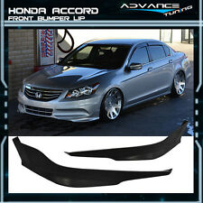 Fit For Honda Accord 11-12 4Dr OE-Type Urethane Front Bumper Lip Splitter