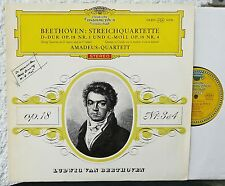 DGG  RED STEREO  Beethoven - Streichquartett op. 18 Nr. 3 & 4   LP  Amadeus