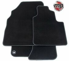 Black Luxury Velour Premier Carpet Car Mats for Fiat Bravo 94-99 - Leather Trim
