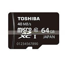 Toshiba Micro SD XC 64GB 64G 40MB/SEC Class 10 C10 U1 UHS1 Flash Memory Card New