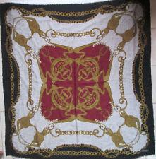 -Superbe châle  30% soie et  -70%laine   TBEG  vintage scarf 140 x 140