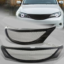 For 2008-2010 Subaru Impreza WRX JDM Front Hood Carbon Style Mesh Grill Grille