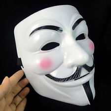 Vendetta Halloween Cosplay Fantasie V Mask Guy Fawkes Anonymous Weiß Nue