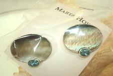 Marta Howell Silver Black-Lip MoP Topaz Cufflinks #1
