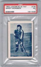 1952 Junior Blue Tint Hockey Card Montreal #164 Sandy Morisson Graded PSA 7