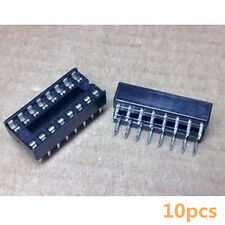 10Stk 16-Pin 16P Narrow DIP IC Sockets Adaptor Solder Type Socket