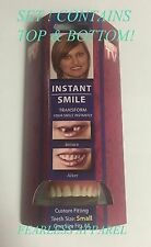 Instant Smile Deluxe Small Fake Teeth Novelty Beauty Top & Bottom Veneer Set