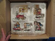 DANBURY MINT SNOOPY PEANUTS CHRISTMAS TRAIN