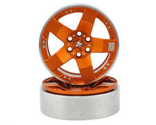 "VPS07038 Vanquish Products KMC Rockstars 2.2"" Beadlock Wheels (2) (Orange)"