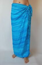 BRAND NEW UNISEX LIGHT BLUE SARONG BEACH POOL WRAP COVER UP ONE SIZE / sa162