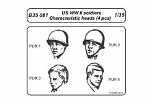 CMK B35081 1/35 US WWII soldiers - character heads 4 pcs
