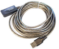 16ft 5M USB 2.0 A Male to A Female Active Extension/Repeater Cable Kinect & PS3
