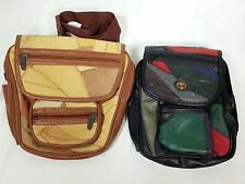 Tinder Fanny Pack Tan Brown Taurus Collection Multi Color LOT Of 2 Travel Bags