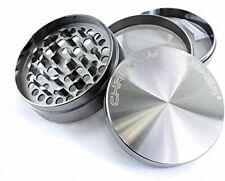 Chromium Crusher 3 Inch 4 Piece Tobacco Herb Grinder - Gun Metal