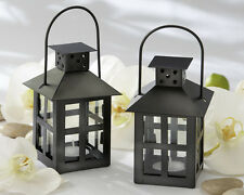 48 Luminous Black Lanterns Tea Light Candle Holder Wedding Favors Lot Q31695