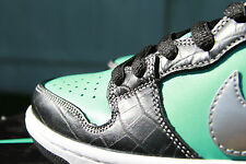"NIKE SB ""DIAMOND TIFF "" DUNK  PREM QS (10) 653599-400 AQUA CHROME - FREE SHIP"