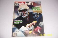 1989 Street and Smith's NOTRE DAME Fighting Irish TONY RICE 168 pages LOU HOLTZ