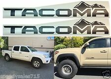 2pc Matte Black Replacement Vinyl Decal Emblems For 2016-2017 Toyota Tacoma New