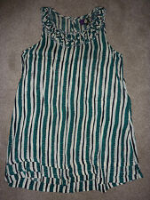River Island size 10 green white striped dress A line, tunic, shift, sleeveless
