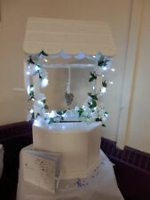 White Wooden Wishing Well Post Box Wedding To Hire