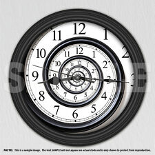 Abstract Time Spiral Infinity Decorative Wall Clock - Dorm Decor