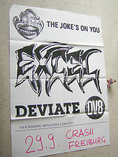 EXCEL The Joke´s On You DEVIATE DV8 orig. TOUR-POSTER 70 x 50 cm