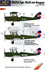 LF Models Decals 1/72 DE HAVILLAND D.H.82A TIGER MOTH Over Uruguay