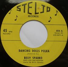 BILLY SPARKO ~ DANCING DOLLS POLKA on STELJO 45 ~ SUPER rare PRIVATE hear