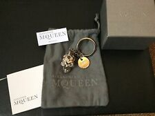 Rare Alexander McQueen Metal And Crystal Skull Fob Key Ring £350