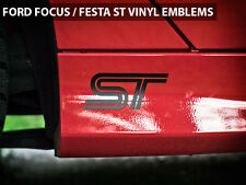 "2013 Ford Focus ST / Fiesta ST Emblems Stickers Decals ""ST"" Logo Style 1"