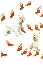 Westie West Highland Terrier Christmas Cards Stocking - Pack of 5