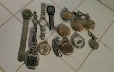 Misc Wrist Pocket Watches Parts Lot Not Working Parts Working May Need Batteries