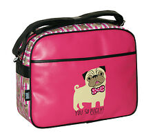 David Y Goliat-usted lo Pugly cabin/school/college / Sports Hombro bag-fuschia