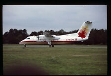 Orig 35mm airline slide deHavilland Canada Dash 8 demonstrator C-GGPJ [212-2]