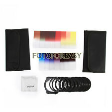 11pcs ND2 ND4 ND8 Gradual Color Filter Kit+ 9pcs Ring Adapter for Cokin P Series