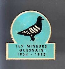 RARE PINS PIN'S .. ANIMAL OISEAU PIGEON COLOMBE COLOMBOPHILIE MINE GUESNAIN ~BF