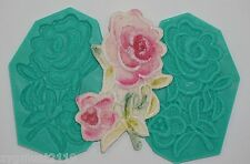 Silicone mould sugarcraft cake decorating mold fondant flower lace rose (2006)