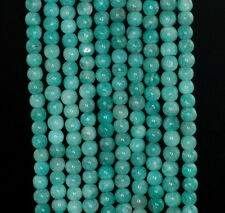 4-5MM RUSSIAN AQUA BERRY AMAZONITE GEMSTONE GRADE A GREEN ROUND LOOSE BEADS 15""