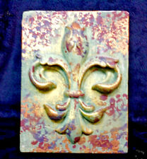 Fleur de LIs 3 D Wall Plaque Multicolored  8 1/4 In  FREE SHIPPING!