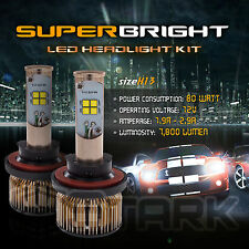 LED 80W 7800LM LED Kit CREE XT-E 6000K Headlight Dual Hi Lo Bulbs - H13 9008