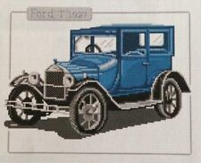 """VINTAGE FORD T 1927 CAR Counted Cross Stitch Kit - Size 11.5"""" x 9.5"""" 33-E DIY"""