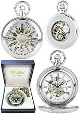 Woodford Half Hunter Skeleton Pocket Watch CP with Free Engraving (1052)