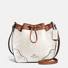New Coach F37682 Baby Mickie Drawstring Shoulder Bag In Spectator Leather $350