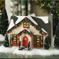 NEW Department 56 Snow Village Dancing Lights Christmas House Building 805502