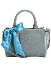 Disney Alice Through The Looking Glass Gray Embossed Hand Bag Purse NWT!