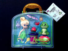 """DISNEY Store ANIMATORS Collection 5"""" TINKER BELL Mini DOLL PLAY SET w/Case NWT"""