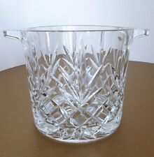 Crystal Cut Glass Ice Bucket Wine Champagne Chiller Cooler