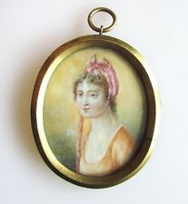A Late 18th Century Miniature Portrait of a Young Lady Manner of William Wood