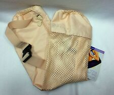 Gaiam Yoga Mat Bag Beige Mesh Eco-Conscious Made of Recycled Soda Bottles NWT